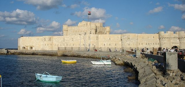 Castle build on the ruins of the lighthouse of Alexandria