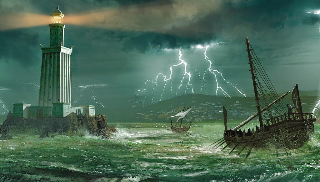 the lighthouse of Alexandria painting